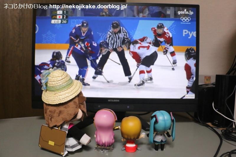 2018021401平昌五輪 アイスホッケー女子 日本vs南北合同チーム。