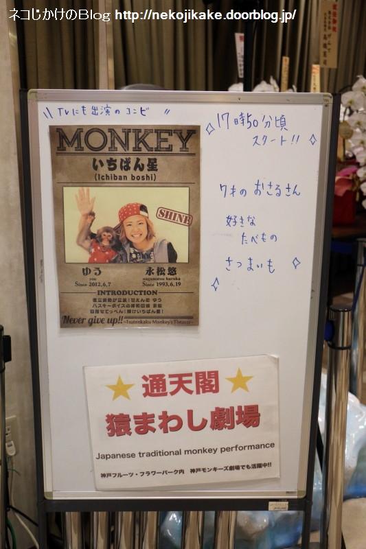 2019080332通天閣猿まわし劇場。1