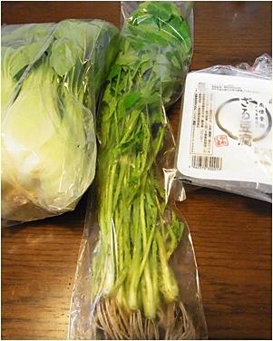 page野菜、豆腐