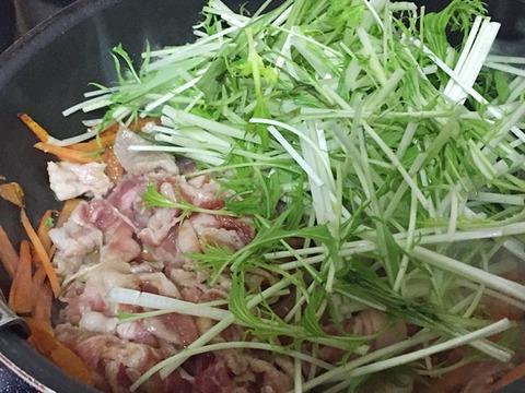 水菜と豚肉