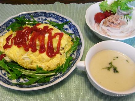 RIMG2698オムレツ夕食