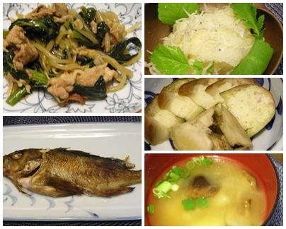 page小松菜豚肉5品