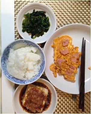 オムレツ夕食2