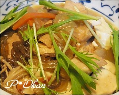 ムネ肉と豆腐の煮もの
