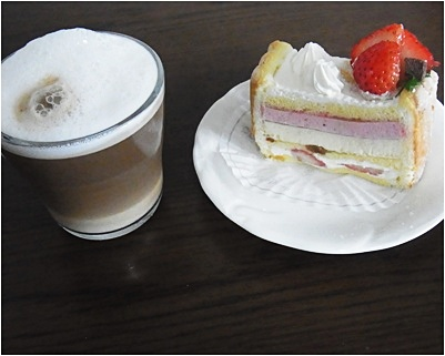 page珈琲とケーキ