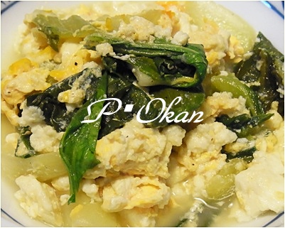 page豆腐、青梗菜