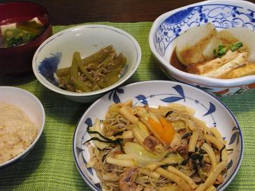 RIMG0517マカロニ入り野菜炒め