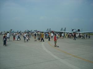 戦闘機の展示