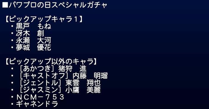 サクセススペシャル_20190819_パワプロの日スペシャルガチャ4