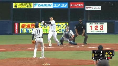 4回裏3岡田サードフライ (2)