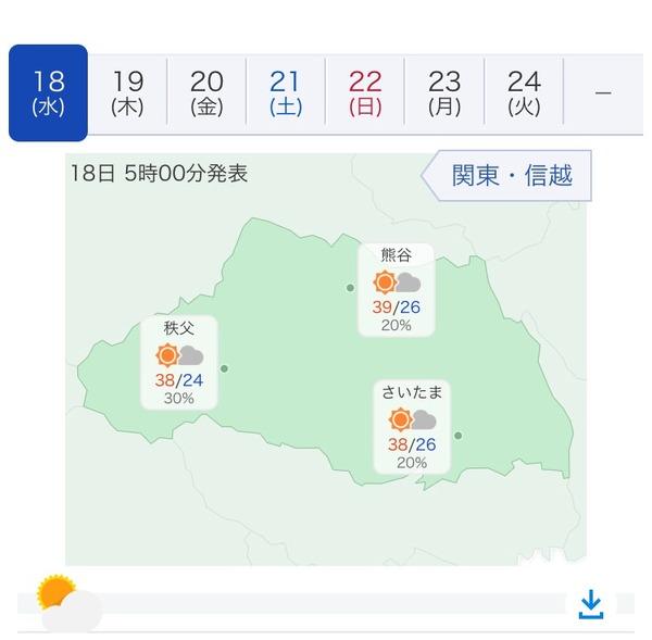 【悲報】埼玉県さん とんでもない天気予報を発表してしまう…