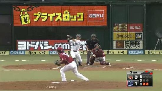 7回裏2代打大崎ヒット満塁 (2)