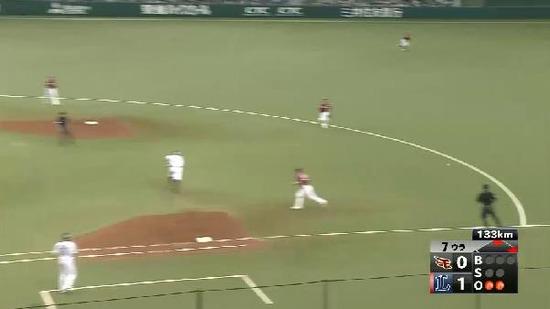 7回裏2代打大崎ヒット満塁 (3)