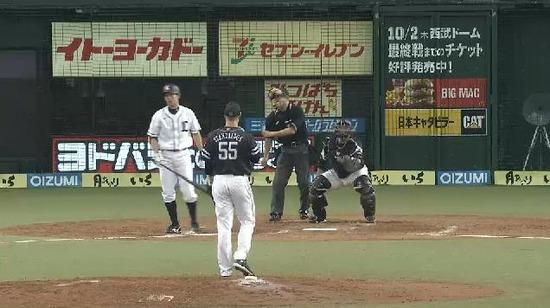 7回裏3森ヒット秋山四球 (2)