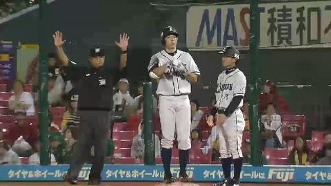 6回表2木村振り逃げ秋山ヒット (2)