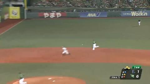 7回表1浅村エラー上本ヒット熊代ヒット満塁 (2)