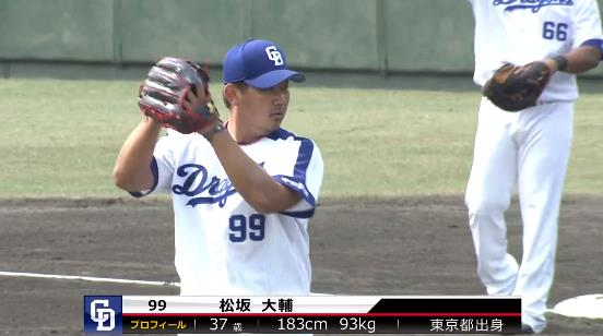 【GIF】松坂大輔、1回ピシャリ2奪三振!