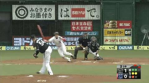 3回裏3金子ヒット満塁 (1)