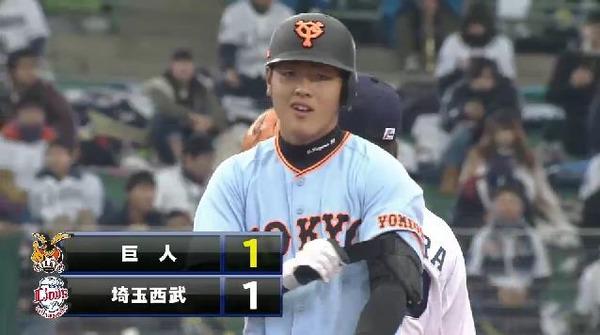 5回表1太田岡本の連打で失点 (1)