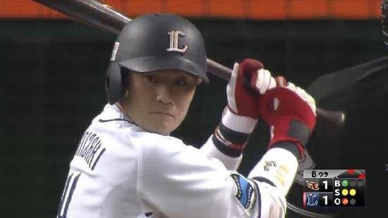 8回裏4鬼崎ヒット満塁 (1)