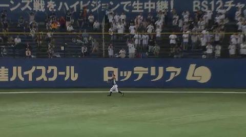 8回裏11鈴木フライ (2)
