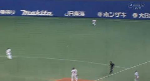 6回表1秋山チーム初ヒット (2)