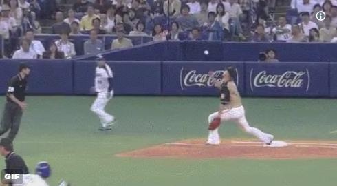 【GIF】中田翔さん、凄いトリックプレーで併殺を奪るww