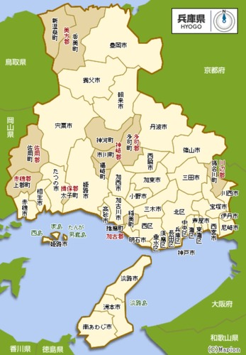兵庫県_地図_:マピオン