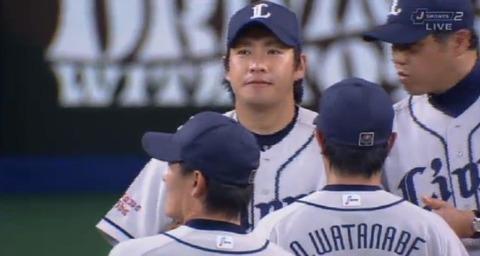 6回裏1中田2ベース藤井フォアボール降板 (1)