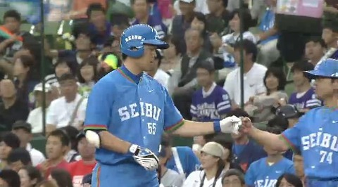 1回裏1秋山13試合連続ヒット