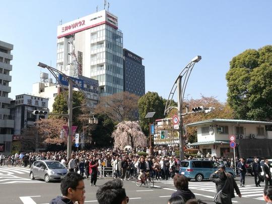 上野の人混み