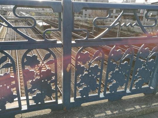 駒込橋の欄干