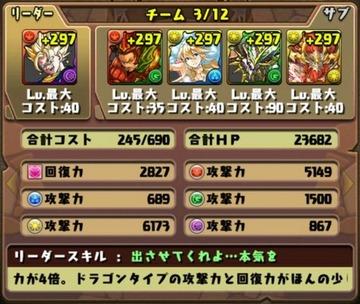 タケミカヅチ降臨挑戦パーティ2