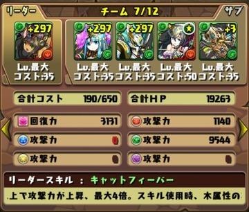 タケミカヅチ降臨挑戦パーティ3