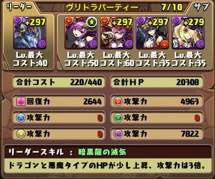 ゼローグ∞降臨挑戦パーティ1