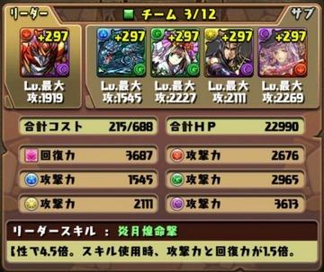 タケミカヅチ降臨挑戦パーティ10