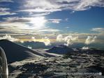 マウナケア山頂雪景色