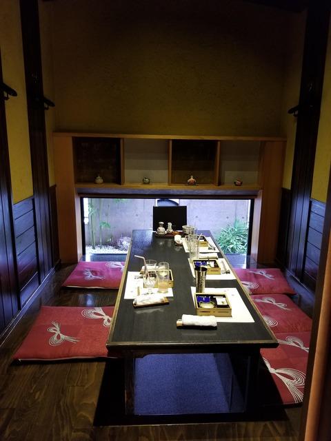食後の個室