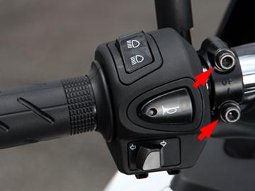 キタコ ヘルメットホルダーの取り付け手順1