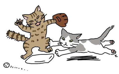野球_二塁打しか打てない猫_猫ねこch