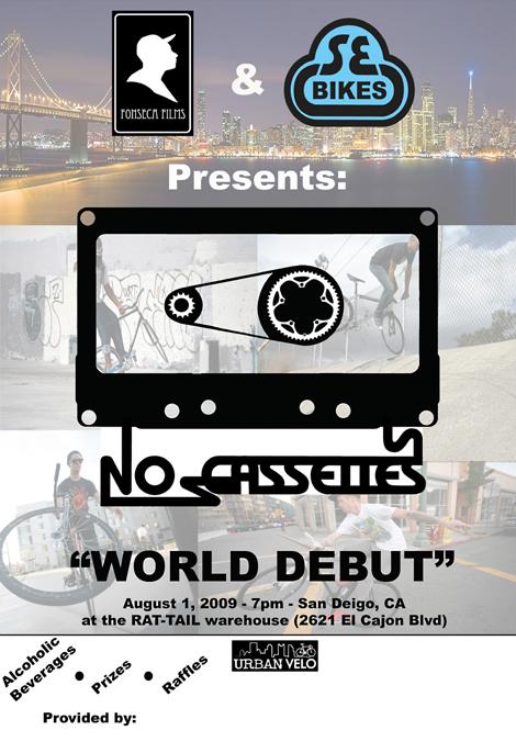 no cassettes flyer