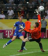 準決勝ドイツ戦でゴールを決めたイタリアのデル・ピエロ