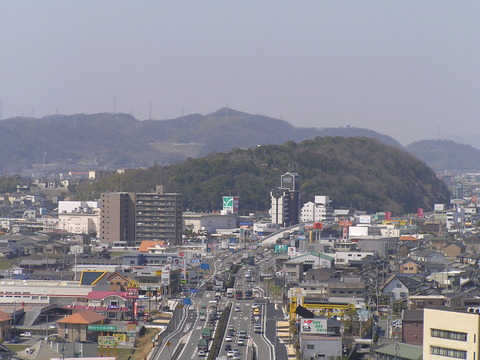 The_vicinity_of_Sasaoki_intersection_seen_from_Kasuyama