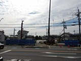 6月12日CP前空き地建設工事 鉄骨建て方 (1)