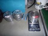 1号レーサーVer2用ピストン加工と重量合わせ (2)