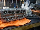 まっきーR号エンジンシリンダーヘッド下拵え (1)