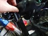 京都様CB400油温計と速度警告灯取付210829 (5)