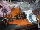レサーエンジンクランク測定