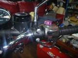 7号機ヘルメットホルダー取付け (1)