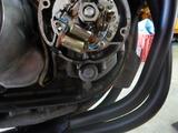 京都様CB400油温計と速度警告灯取付210829 (2)